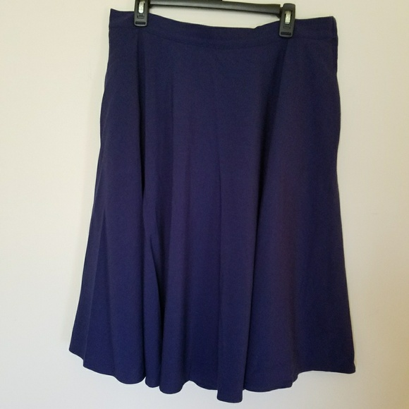 af14a2a5a Modcloth Skirts | Just This Sway Midi Skirt In Navy | Poshmark